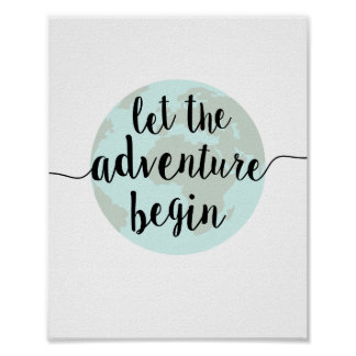 Laissez l'aventure commencer la copie d'art de posters