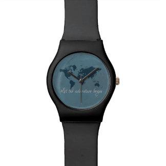 Laissez l'aventure commencer montres bracelet
