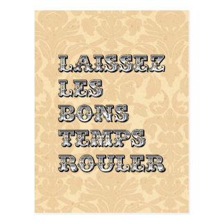 Laissez le bon mardi gras de petit pain de carte postale