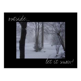 """""""Laissez-le neiger"""" carte postale de photo"""