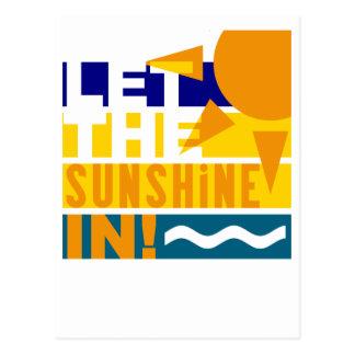 Laissez le soleil en carte postale
