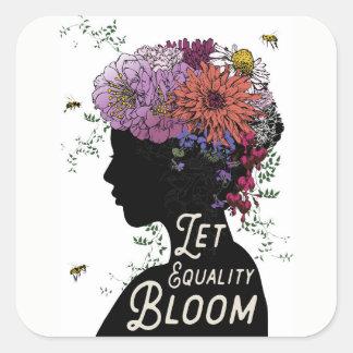 Laissez les autocollants de fleur d'égalité
