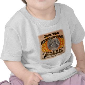 Laissez les enfants effectuer le travail t-shirt
