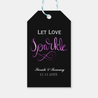 Laissez les étiquettes d'étincelle d'amour
