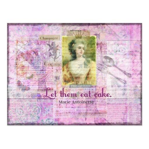 Laissez-les manger le gâteau - ART de citation de  Cartes Postales