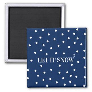 Laissez lui neiger aimant de vacances de Noël