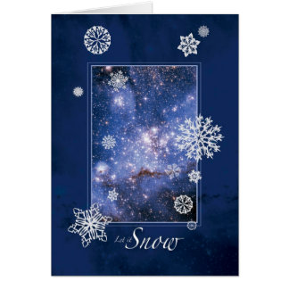 Laissez lui neiger avec le grand nuage de carte de vœux