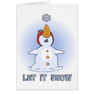 Laissez lui neiger carte