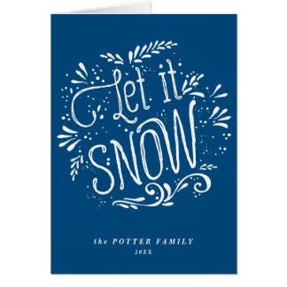 Laissez lui neiger carte bleue de vacances de Noël