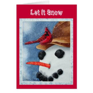 Laissez lui neiger - carte de Noël