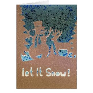 Laissez lui neiger carte de Noël