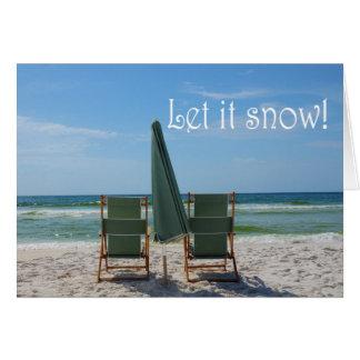 Laissez lui neiger ! carte de voeux