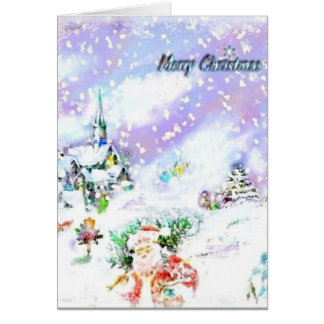 Laissez lui neiger carte de vœux