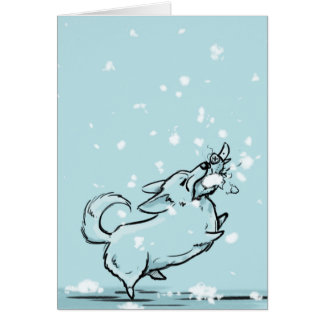 Laissez lui neiger ! carte de vœux
