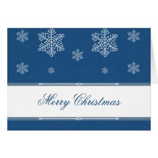 Laissez lui neiger carte de voeux de Noël, bleu