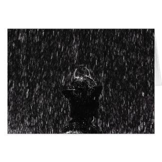 Laissez lui neiger ! carte photo de chien de |