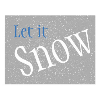 Laissez lui neiger carte postale