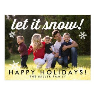 Laissez lui neiger carte postale de carte de