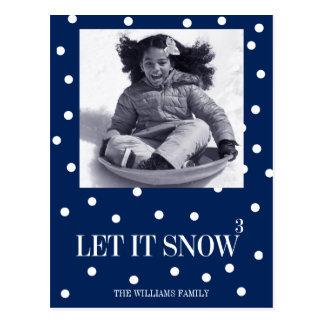 Laissez lui neiger carte postale de photo de