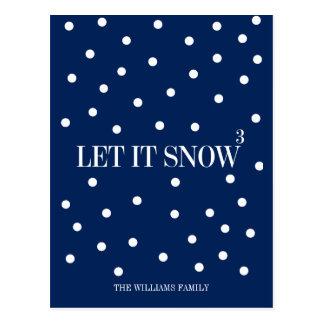 Laissez lui neiger carte postale de vacances de