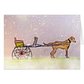 Laissez lui neiger ! cartes de vœux