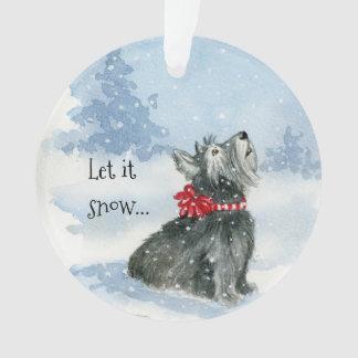 Laissez lui neiger - célébrez l'ornement de cercle