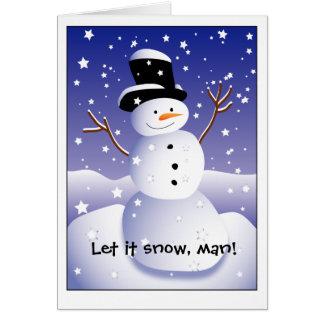 Laissez lui neiger, équiper ! carte de vœux