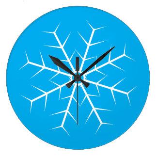 Laissez lui neiger horloge congelée