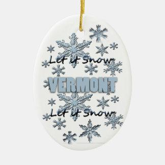 Laissez lui neiger ornement de Noël du Vermont