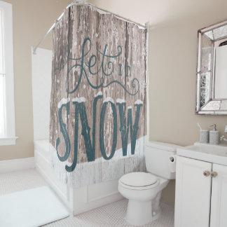 Laissez lui neiger rideau en salle de bains de