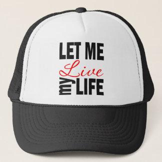 Laissez-moi vivre mon casquette de boule de la vie