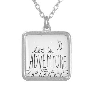 Laissez-nous Adventure-01 Pendentif Carré