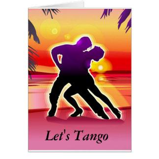 Laissez-nous carte de tango