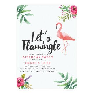 Laissez-nous invitation de fête d'anniversaire de