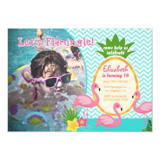 Laissez-nous invitation tropicale d'anniversaire