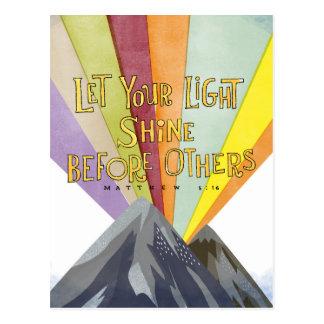 Laissez votre éclat léger carte postale