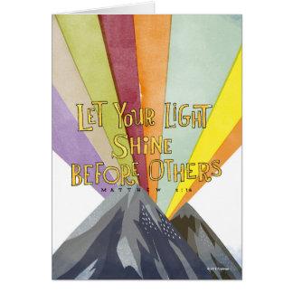 Laissez votre éclat léger cartes de vœux