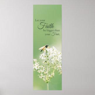 """""""Laissez votre fleur florale de citation Posters"""