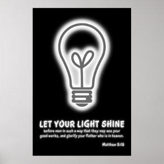 Laissez votre vers léger de bible de 5h16 de Matth Affiches