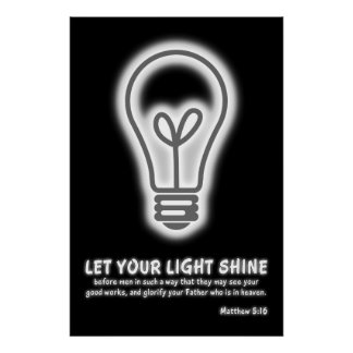 Laissez votre vers léger de bible de 5h16 de posters