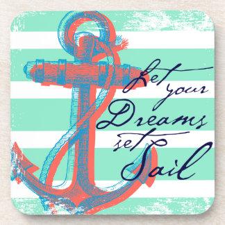 Laissez votre voile réglée par rêves dessous-de-verre