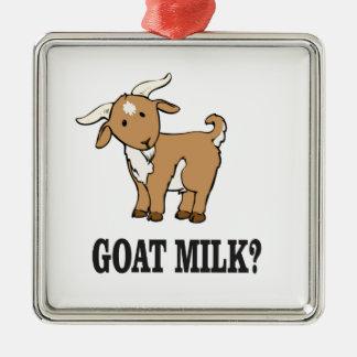 lait de chèvre ? ornement carré argenté