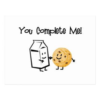 Lait et biscuits carte postale