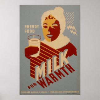 Lait pour les affiches 1941 de WPA de cru Poster
