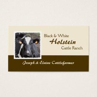 Laiterie du Holstein ou photo de cheptels bovins Cartes De Visite