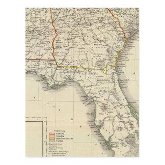 L'Alabama, la Géorgie, la Caroline du Sud, et la Carte Postale