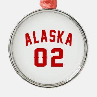 L'Alaska 02 conceptions d'anniversaire Ornement Rond Argenté