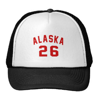 L'Alaska 26 conceptions d'anniversaire Casquettes
