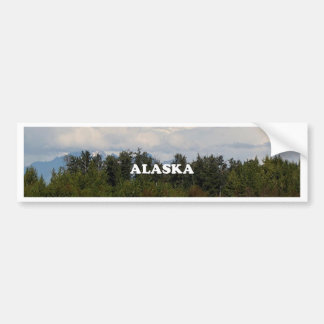 L'Alaska : Denali, forêt, rivière, montagnes, Autocollant De Voiture