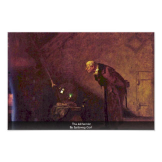 L'alchimiste par Spitzweg Karl Posters